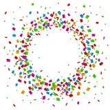 Confetti seamless bright round frame colorful for celebration. Illustration of Confetti seamless bright round frame colorful for celebration Stock Photos