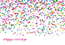 Confetti seamless pattern Royalty Free Stock Images