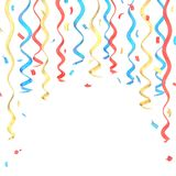 Confetti and serpentine composition isolated Stock Images