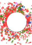 Confetti and serpentine explosion Colorful celebration backgroun Stock Images