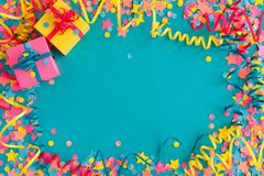 Confetti and serpentine royalty free stock photo