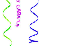 Confetti serpentine ribbon border royalty free stock image