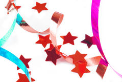 Confetti serpentine ribbon Royalty Free Stock Image
