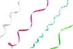 Confetti serpentine ribbon stock images