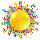 Confetti and serpentine sun Royalty Free Stock Image