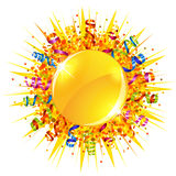 Confetti and serpentine sun Stock Images