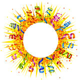 Confetti and serpentine sun Royalty Free Stock Image
