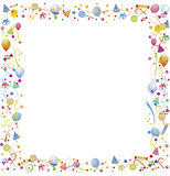 Confetti serpentine sweets toys Royalty Free Stock Photo