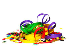 Confetti and serpentines Stock Photography
