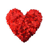 Confetti in shape of heart Royalty Free Stock Photos