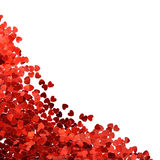 Confetti in shape of heart Stock Photos