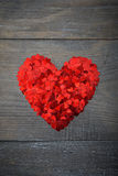 Confetti in shape of heart Royalty Free Stock Images