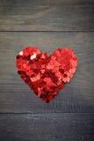 Confetti in shape of heart Stock Photo