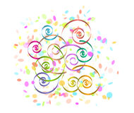 Confetti and spirals Royalty Free Stock Images