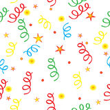 Confetti and the stars. Vector available, background Stock Photography
