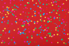 Confetti stars. Colorfull confetti stars as a background Royalty Free Stock Photography
