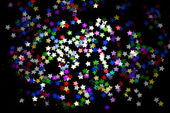 Confetti stars background royalty free stock image