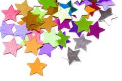 Confetti stars border background Stock Photos