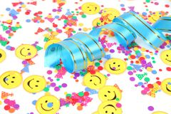 Confetti and streamer Royalty Free Stock Photos