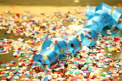 Confetti and streamer Royalty Free Stock Photography