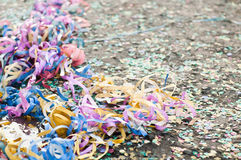 Confetti and streamers Stock Photos