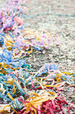 Confetti and streamers Stock Photography