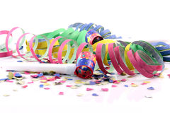 Confetti streamers blowers Stock Photo