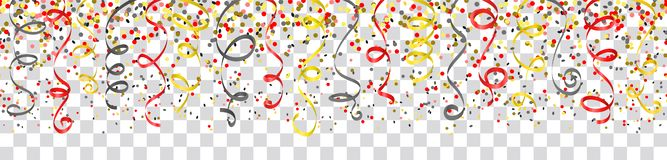 Confetti and streamers Germany flag colors isolated vector. Design vector illustration
