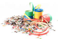 Confetti and streamers Stock Image