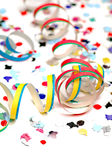 Confetti and streamers  Stock Photo