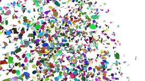 Confetti Sweep stock video footage