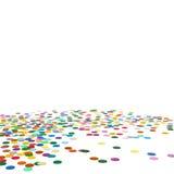 Confetti tła szablon - Chads tło Zdjęcia Stock