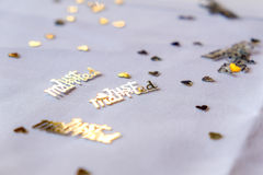 Confetti on Table Stock Images