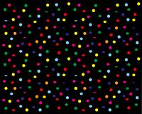 Confetti trzepocze w dół na czarnym tle ilustracja wektor