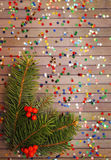 Confetti and twig tree Royalty Free Stock Photos