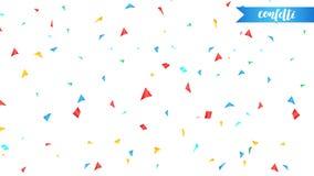 confetti Vakantie glanzende die confettien op witte achtergrond worden geïsoleerd Kleurrijke confettien royalty-vrije illustratie