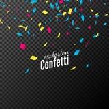 Confetti vector design. Festive decoration for celebration party. Colorful flying confetti vector illustration