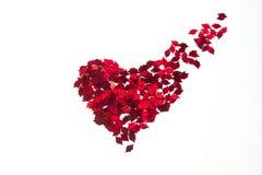Confetti vermelho do coração fotografia de stock royalty free