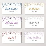 Confetti Wedding Place Cards Stock Images