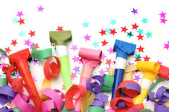 Confetti and whistles Stock Image