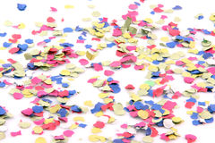 Confetti on white Stock Images