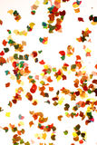 Confetti on white background royalty free stock photo