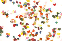 Confetti on white background Stock Photography