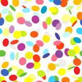 Confetti On White Background Seamless Pattern Royalty Free Stock Image