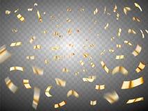 Confetti wybuch na przejrzystym tle Obrazy Stock
