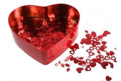 Confetti2 de la tarjeta del día de San Valentín fotos de archivo libres de regalías