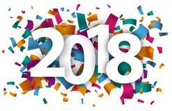 2018 confettien royalty-vrije illustratie