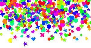 Confettien Carnaval Royalty-vrije Stock Fotografie