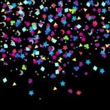 Confettien, de viering van Nieuwjaren - achtergrond Royalty-vrije Stock Fotografie