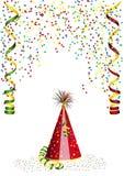 Confettien en Carnaval-decoratie Royalty-vrije Stock Afbeeldingen